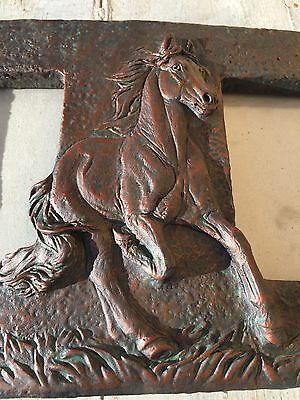 Stunning Vintage 1999 United Design Corp Double Picture Frame Running Horse