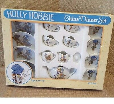 Vintage Rare Holly Hobbie China Tea / Dinner Set Complete In Package New 16 Pcs