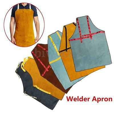 100x70CM Cowhide Welder Apron Protective Clothing Thermal Protection Workwear