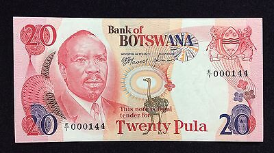 Botswana 20 Pula Pic 5a. UNC. Low Number. Rare.