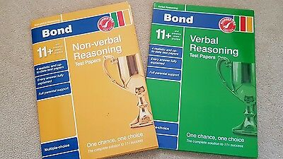 Bond 11+ verbal and non verbal reasoning papers