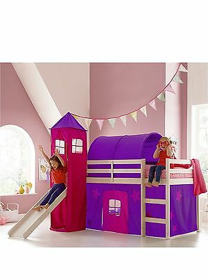 Purple and Pink tent, tower and tunnel for a Wooden Midsleeper