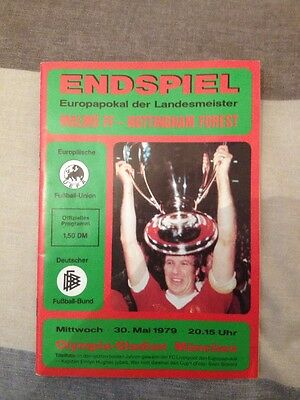 NOTTINGHAM FOREST v MALMO FF Wednesday 30th May 1979 European Cup Final Program