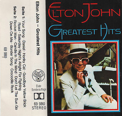 ELTON JOHN Greatest Hits MC Tape MUSIKKASSETTE Your Song DANIEL Crocodile Rock