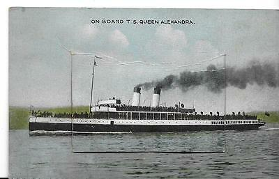 TS Queen Alexandra (pullout views postcard)
