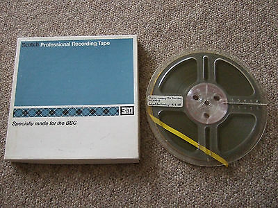 "7"" reel to reel tape BBC radio Subject For Sunday 1968 broadcast"