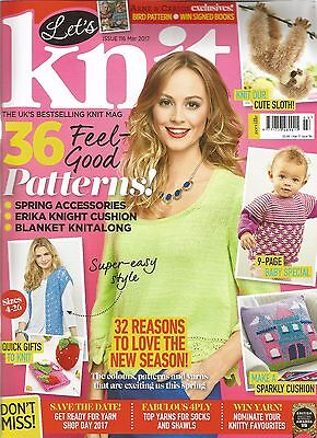 Knitting magazine LET'S KNIT March on 100 pages + extra toy patt 1st class cond