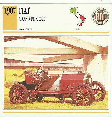 FIAT GRAND PRIX CAR from 1907 original 2-sided Edito collector's trading card