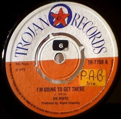 Trojan Records Joe White I'm Going To Get There/Rupe Edwards Kinky Funky Reggae