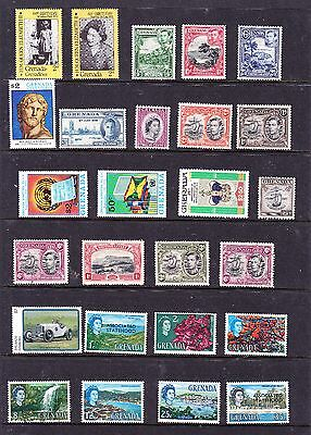 Grenada stamps 26 MUH, MH & Used