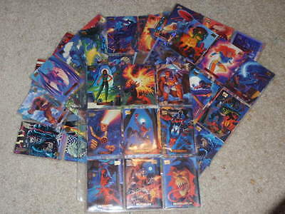 marvel collector cards lot of 203