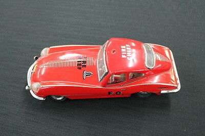 vintage red metal fire chief car made in China