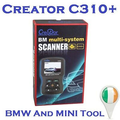 Genuine Creator C310+ BMW MINI Diagnostic Tool, Code Reader, Scanner ABS Airbags