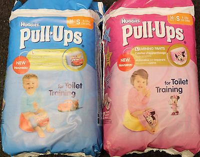 Huggies Pull Ups Boy/Girl 16 Pants Size Small 8-15kg (18-33lbs) toilet training
