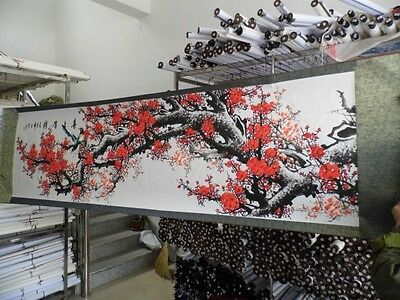 Traditional Chinese Painting Scroll Plum Flower Magpie Painting Decorative Gift