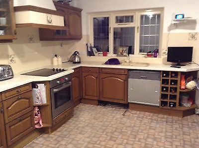 complete used wood kitchen with appliances