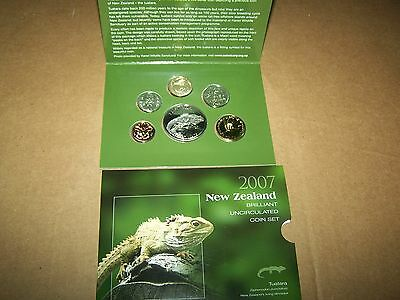2007 New Zealand Brilliant Uncirculated Coin Set 6 Coin
