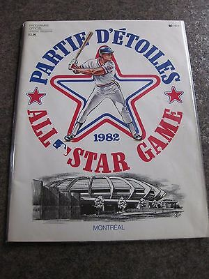 Rare Baseball 1982 All Star Game Official Program At Montreal Olympic Stadium