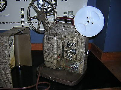 Keystone K-100 Reg 8mm Motion Picture Film Projector with take up reels Works A+