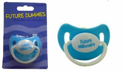 Funny Dummy Dummies Pacifier Baby Kid Soother Future Millionaire Dummy