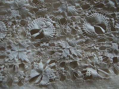 antique handmade lace raised work tea cosy early Victorian