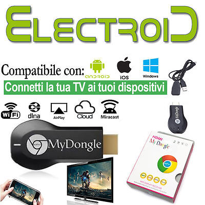 Chiavetta My Dongle Screen Mirroring Wifi Dlna Airplay Hdmi Android Mirror 24H*