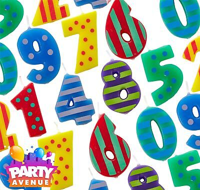 Dots & Stripes Number Candles Birthday Party Cake Decoration