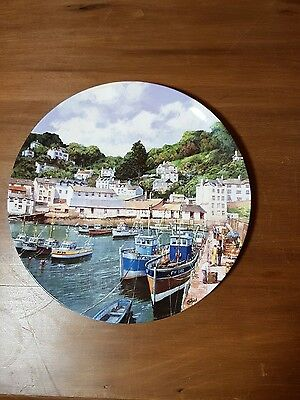 "Collectable Plate - ""Fishing Boats at Polperro"""