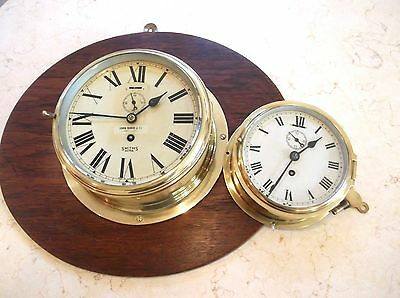 MASSIVE ORIGINAL SOLID BRASS SHIPS CLOCK ex AUSTRALIAN MERCHANT SHIPPING CO. VGC