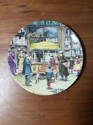 "Cries of London Collectors Plate - ""The Ice-Cream Seller"""