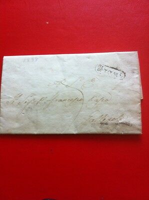 Pre Stamp Letter 1838. from Italy?,
