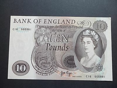 Bank Of England  £10 Pound Note - J.b.page    C16 505981