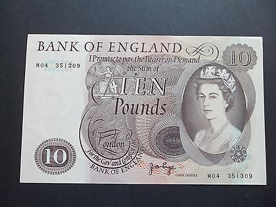 M04 Replacement Bank Of England  £10 Pound Note - J.b.page    M04 351309