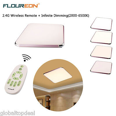 64W LED Ceiling Down Light Recessed Kitchen Bathroom Dimmable Remote Control UK