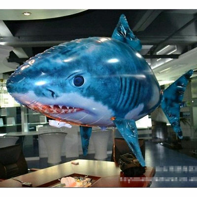 Air Flying Shark Fish Swimmer - Remote Controlled RC Toy Children Kids XMAS Gift