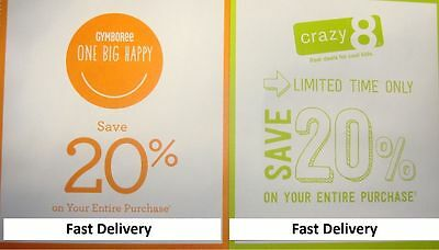 CRAZY 8 and GYMBOREE ~~( 20% OFF )~~ Your Entire Purchase ~~ Code Expire 4/4/17