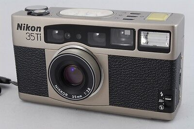 MINT Nikon 35Ti 35mm Point & Shoot Film Camera w/Case From Japan a501
