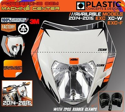 Motorcycle Bike MX Universal Headlight Headlamp For KTM EXC F XCW SX F 125-500