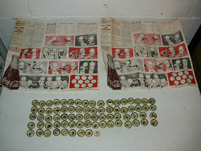 1967 Coca-Cola Brands Baseball Bottle Cap Promotional Sweepstakes