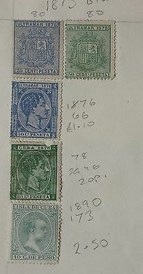 1Cuba Caribbean 1875-1950 Collection From Old Album Hinged.36 Stamps.