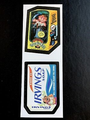 Topps Wacky Packages LOST WACKYS GREEN REPLACEMENT GPK Double Vertical Strip