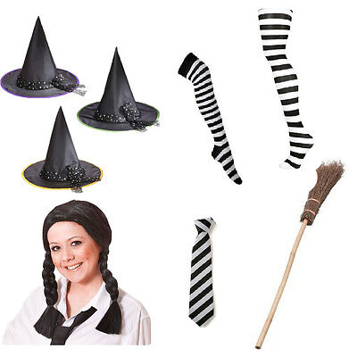 Book Day Fancy Dress Worst Witch Mildred Hubble Prop Costume Tie Hat Broom Tight