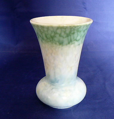 "BESWICK Pottery Model # 674 - Green & Blue - 5"" FLARED TOP VASE  - Very Good"