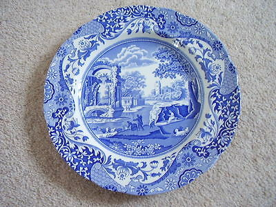 Spode England porcelain blue and white plate,Italian,23 wide