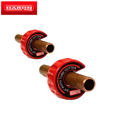 """Haron Steel Auto Tube Copper Pipe Cutter 1/2"""" & 3/4"""" Plumbing Hand Tool 2 Pack"""