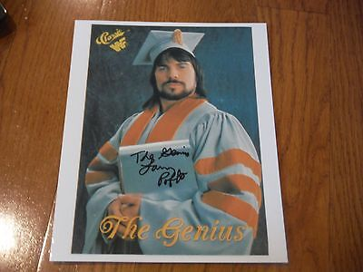 Lanny Poffo Autographed 8x10 Photo WWE Hand Signed The Genius