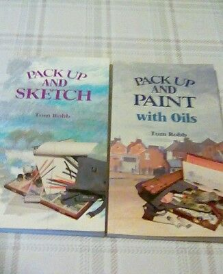 Two Tom Robb Artists Books Pack Up And Paint And Pack Up And Sketch