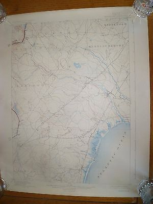 U.S.G.S.Topographic Map Maine (York County) Kennebunk Ed..1898 Reprinted 1925