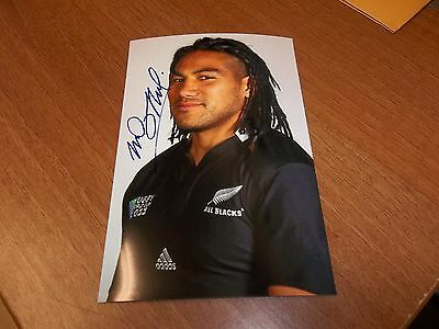 Ma Nonu, New Zealand Rugby Player, Signed 6 X 4 Photo