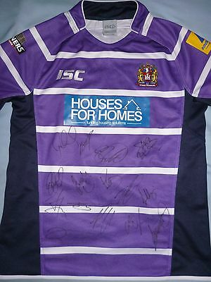 Wigan Warriors Signed Shirt x15 - Rugby Autograph, Tomkins, 2017 Squad, Burgess